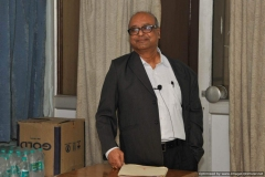 """Dr. P. Asthana of DST delivering the lecture entitled """"Mega Science Projects and India""""."""