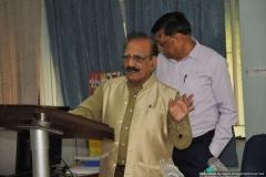 President  NPL-FSF, Dr R G Sharma addressing the audience