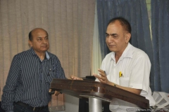 Dr J C Sharma Sharing  Ayurveda knowledge with the audience