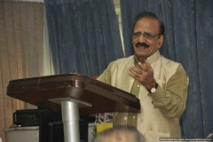 Dr. R G Sharma addressing the audience
